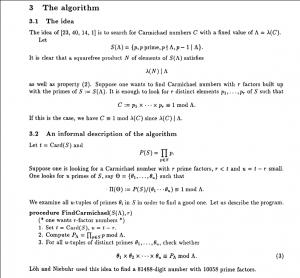 Erdos algorithm
